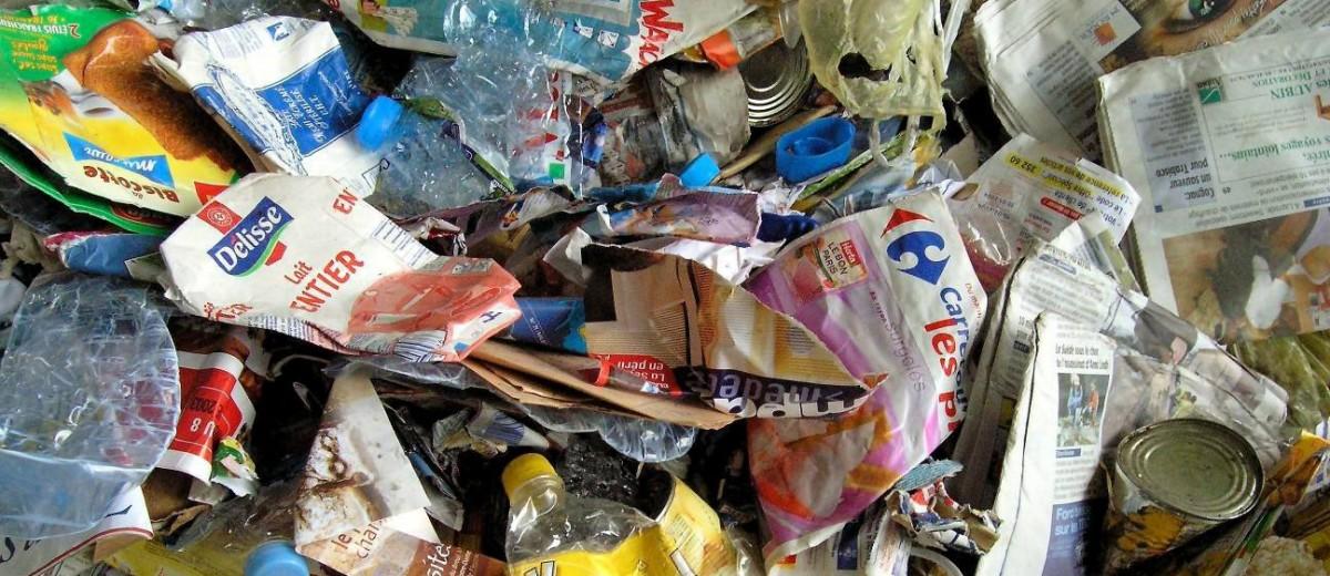 Mélange des déchets