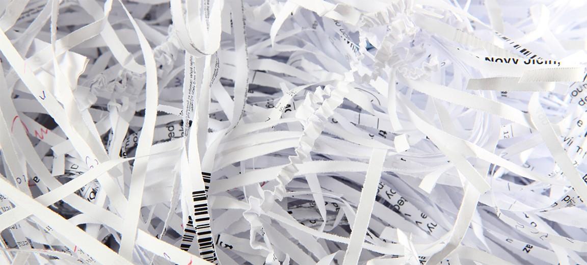 rognures de papier