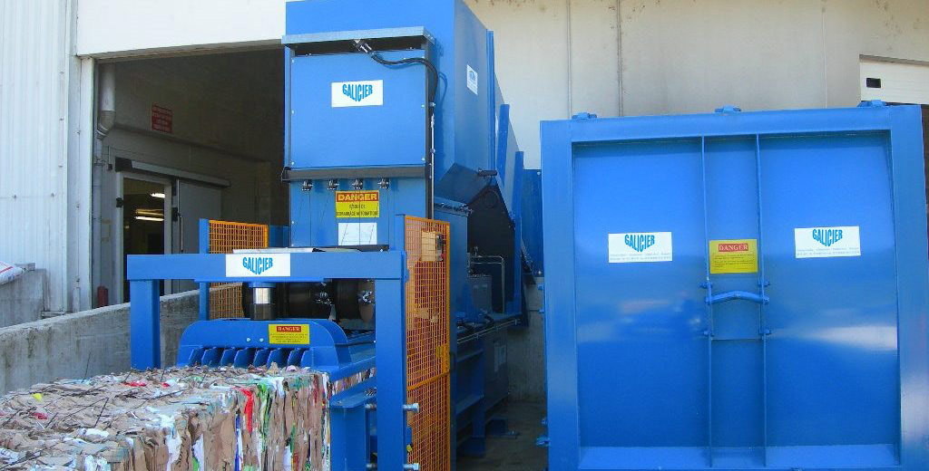vertical and horizontal balers, compactors, shredder